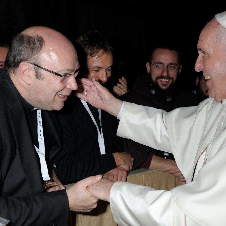 Don Luca Ferrari con Papa Francesco