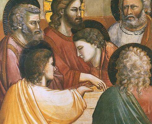 AUGURI SANTA PASQUA 2017 - Giotto, Ultima Cena, Scrovegni