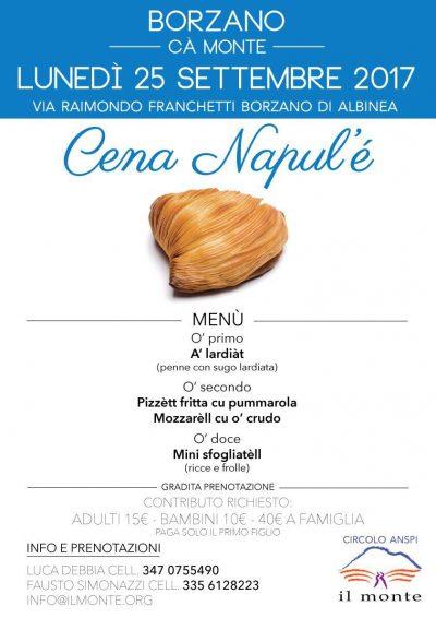 menu cena napule