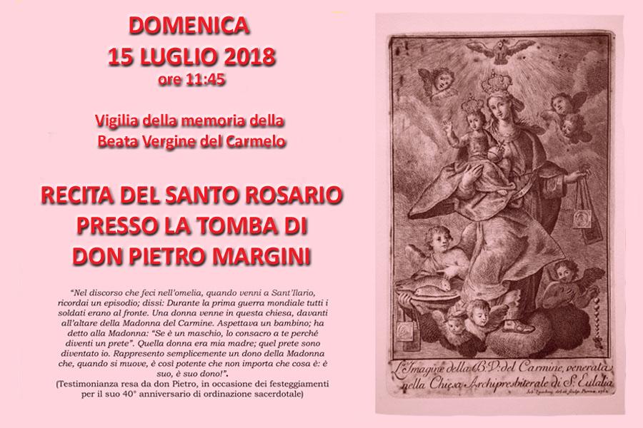 Madonna del Carmelo Recita del santo rosario sulla Tomba di don Pietro 2108