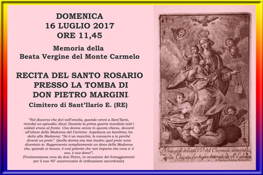 Madonna del Carmelo Recita del santo rosario sulla Tomba di don Pietro